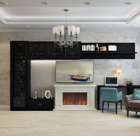 transformer une cheminée rustique en moderne